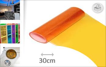 Oranje doorzichtig folie