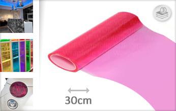 Roze doorzichtig folie