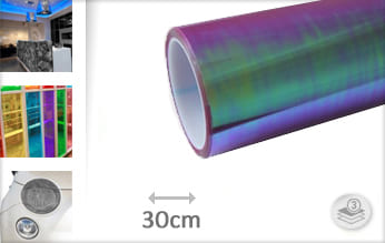 Flipflop paars transparant folie
