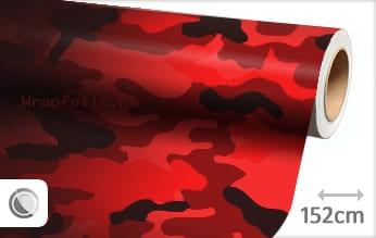 Camouflage rood folie