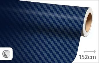 Donkerblauw 3D carbon folie
