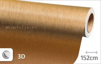 Geborsteld aluminium goud folie