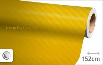 Geel 4D carbon folie