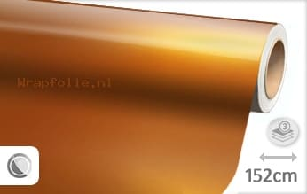 Glans metallic oranje folie