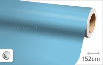 Mat babyblauw folie