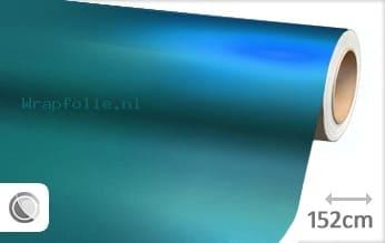 Mat chroom lichtblauw folie
