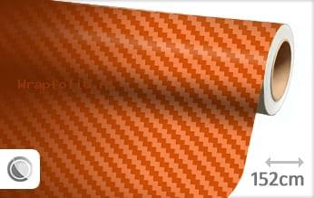 Oranje 3D carbon folie
