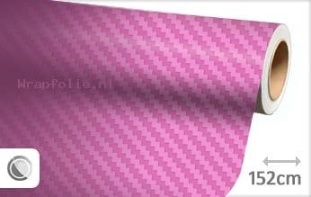 Roze 3D carbon folie
