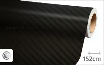 Zwart 4D carbon folie